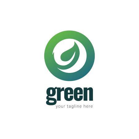 Green Logo Gradient Vector Template Design Illustration Stockfoto - 132147888