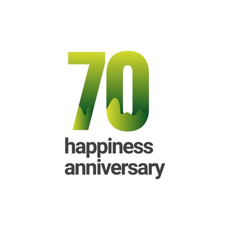 70 Years Happiness Anniversary Vector Template Design Illustration Stockfoto - 132147915