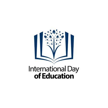 International Day of Education Celebration Vector Template Design Illustration