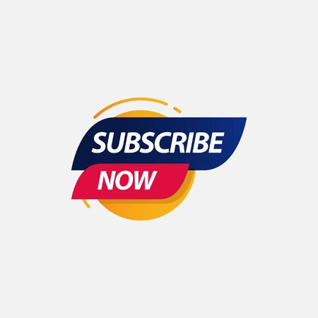 Subscribe Now Label Logo Vector Template Design Illustration