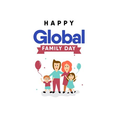 Happy Global Family Day Celebration Vector Template Design Illustration