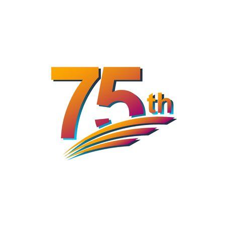 75th Anniversary Template Design Illustration Vector Illustration