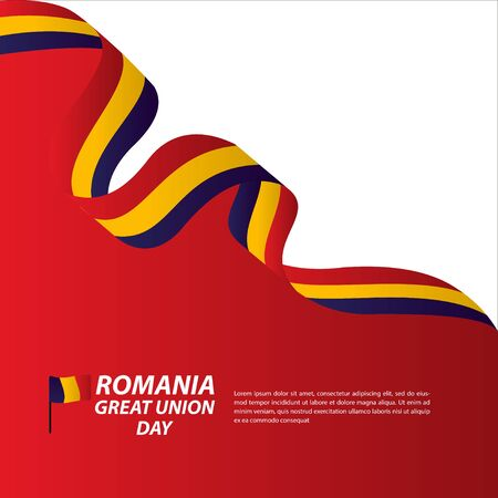 Romania Great Union Independence Day Celebration Banner Vector Template Design Illustration