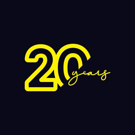 20 Years Anniversary Celebration Vector Template Design Illustration Logo Icon Logó
