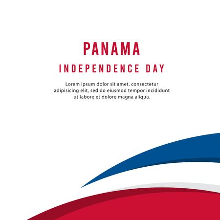 Happy Panama Independence Day Vector Template Design Illustration