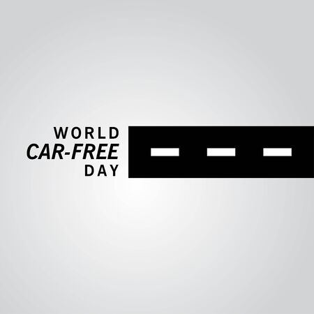 World Car Free Day Vector Template Design Illustration