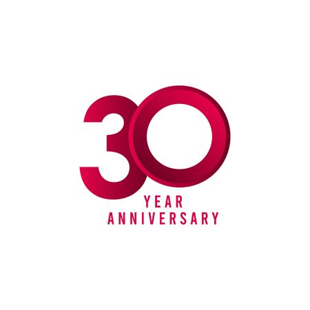 30 Years Anniversary Vector Template Design Illustration Ilustração