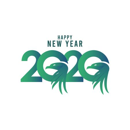 Happy New Year 2020 Celebration Vector Template Design Illustration Illustration