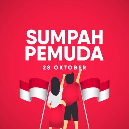 Sumpah Pemuda Celebration Vector Template Design Illustration Illustration