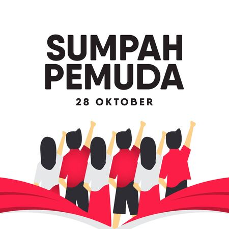 Sumpah Pemuda Celebration Vector Template Design Illustration Иллюстрация