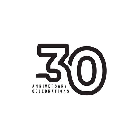 30 Years Anniversary Celebrations Template Design Illustration