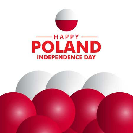Happy Poland Independence Day Vector Template Design Illustration