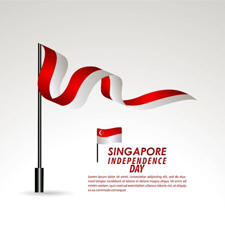 Singapore Independence Day Celebration Vector Template Design Illustration Illustration