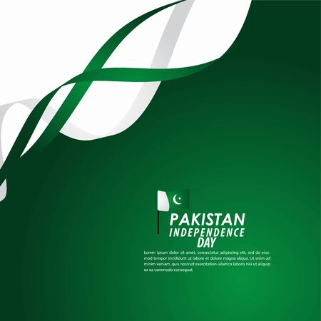 Pakistan Independence Day Celebration Vector Template Design Illustration Banco de Imagens - 137402978