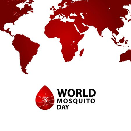 World Mosquito Day Celebration Vector Template Design Illustration Illustration
