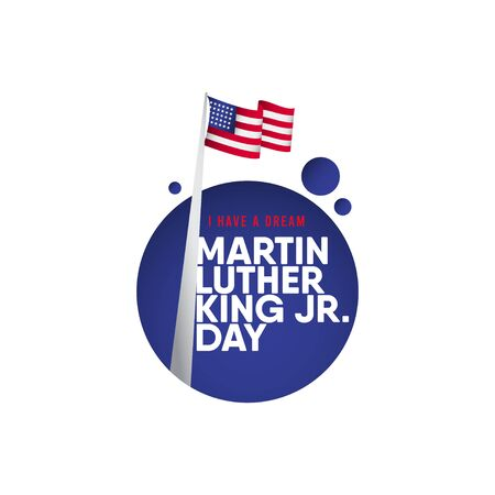Martin Luther King JR. Day Vector Template Design Illustration