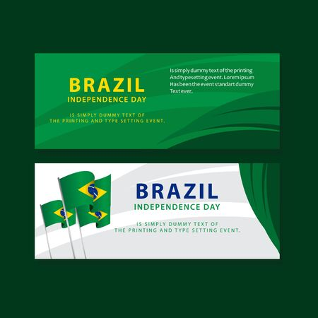 Happy Brazil Independence Day Poster Vector Template Design Illustration