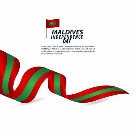 Maldives Independence Day Celebration Vector Template Design Illustration