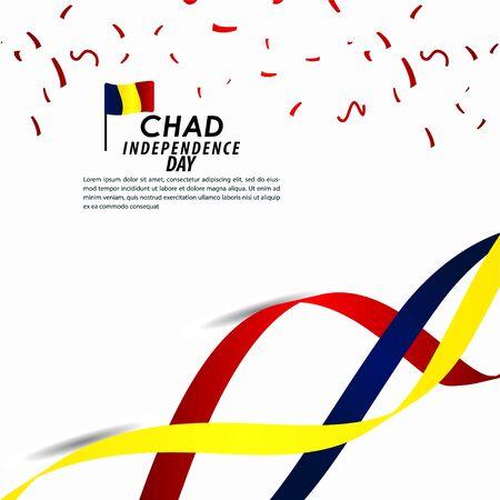 Chad Independence Day Celebration Vector Template Design Illustration
