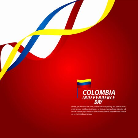 Colombia Independence Day Celebration Vector Template Design Illustration Illusztráció