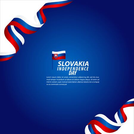 Slovakia Independence Day Celebration Vector Template Design Illustration Ilustracja