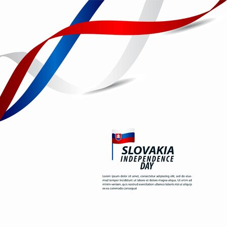 Slovakia Independence Day Celebration Vector Template Design Illustration 向量圖像