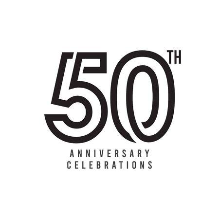 50 Th Anniversary Celebration Vector Template Design Illustration
