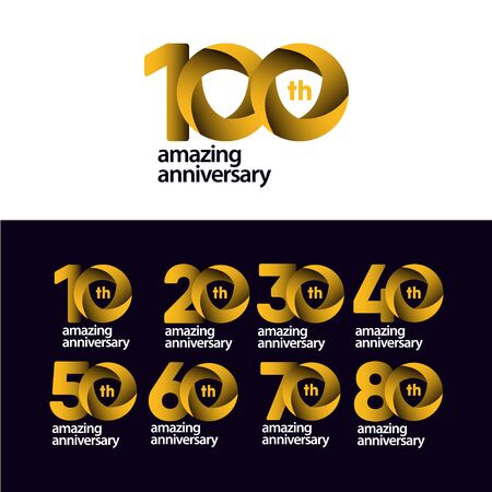 100 Years Amazing Anniversary Celebration Vector Template Design Illustration