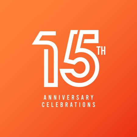 15 Th Anniversary Celebration Vector Template Design Illustration
