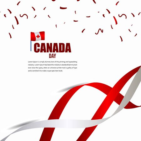 Canada Independent Day Celebration Design Illustration Vector Template