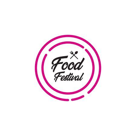 Food Festival Logo Vector Template Design Illustration Foto de archivo - 136812748