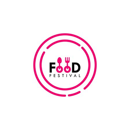 Food Festival Logo Vector Template Design Illustration Foto de archivo - 136812752