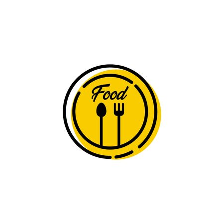 Food Festival Logo Vector Template Design Illustration Foto de archivo - 136812755