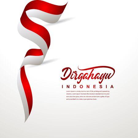 Indonesien Unabhängigkeitstag Feier Kreative Design Illustration Vektor Vorlage