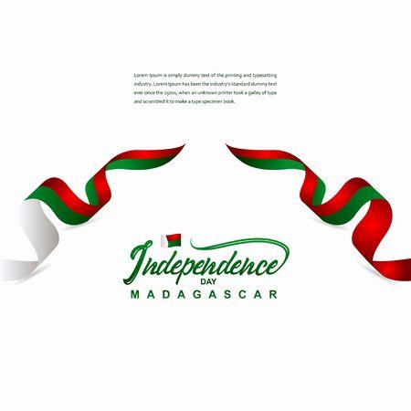 Madagascar Independence Day Celebration Creative Design Illustration Vector Template