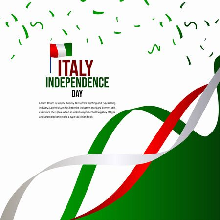 Italy Independence Day Celebration Vector Template Design Illustration