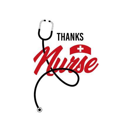 Thanks Nurse Vector Template Design Illustration Ilustración de vector