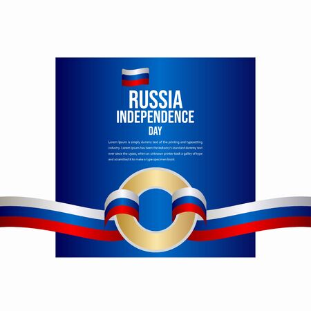 Russia Independence Day Celebration Vector Template Design Illustration
