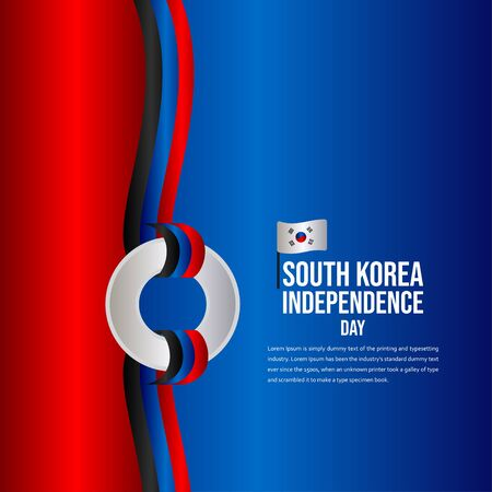 South Korea Independence Day Celebration Vector Template Design Illustration