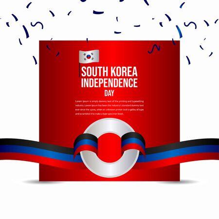 South Korea Independence Day Celebration Vector Template Design Illustration