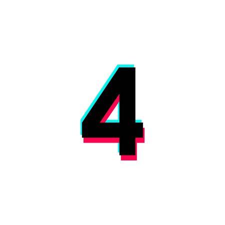 Number 4 Vector Template Design Illustration Design for Anniversary Celebration 向量圖像