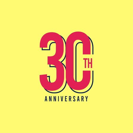30 Th Anniversary Vector Template Design Illustration Ilustração