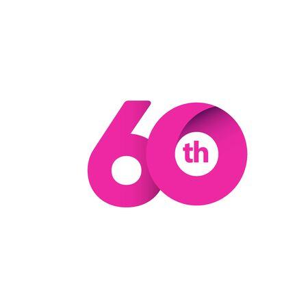 60 Year Anniversary Celebration Vector Template Design Illustration