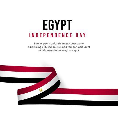 Happy Egypt Independence Day Celebration Poster Vector Template Design Illustration