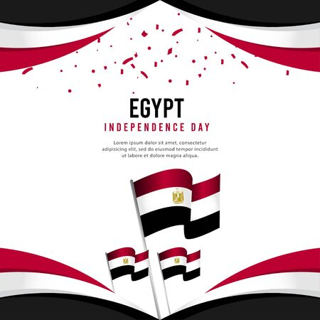Happy Egypt Independence Day Celebration Poster Vector Template Design Illustration