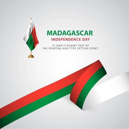Happy Madagascar Independence Day Celebration Poster Vector Template Design Illustration