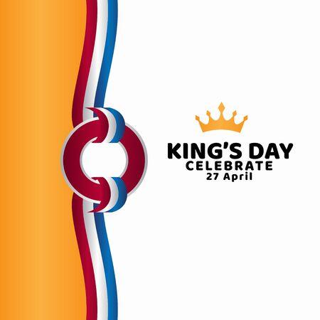King's Day Celebrate Vector Template Design Illustration Banco de Imagens - 137060329