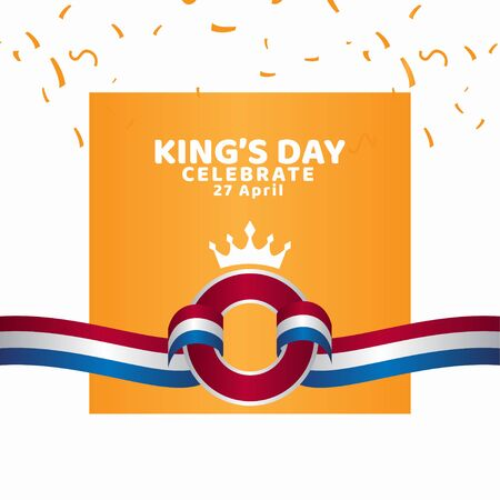 King's Day Celebrate Vector Template Design Illustration Banco de Imagens - 137060341