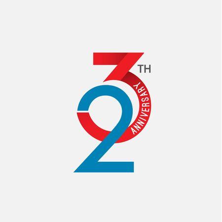 23 th Anniversary Vector Template Design Illustration