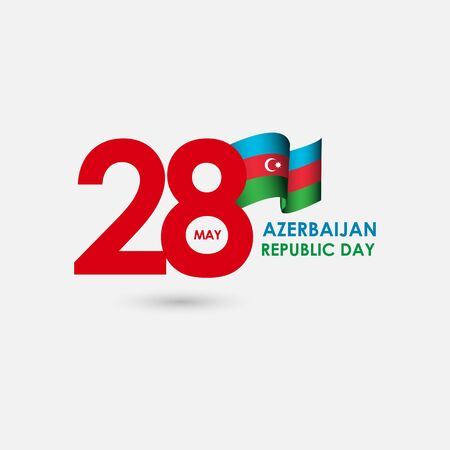 28 Year Azerbaijan Republic Day Celebration Vector Template Design Illustration Banque d'images - 137060972